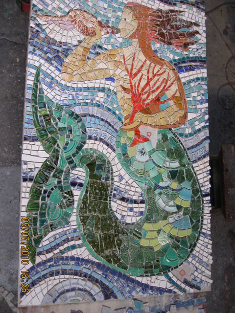 A mosaic by Baltimore artist, Betsy Greene, placed on the ...